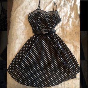 High-lo polka dot dress